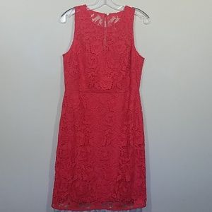 J. Crew Collection Coral Poppy Lace Sheath Dress